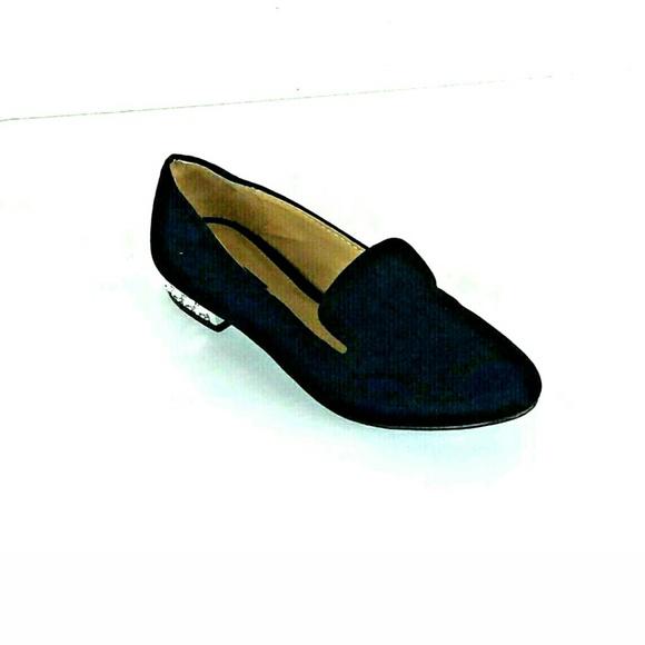6fa2a3fcb7 Forever 21 Shoes | Womens Black Velvet Flat Bling | Poshmark